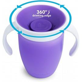 Munchkin Tasse d'Apprentissage Miracle 360° -207ml - Violet