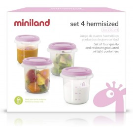 4 Pot de conservation 250ml Rose - Miniland