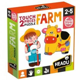 Montessori puzzle la ferme 2-5 ans - Headu