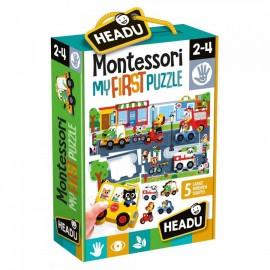 Montessori Mon premier Puzzle La villr 2-4 ans - Headu