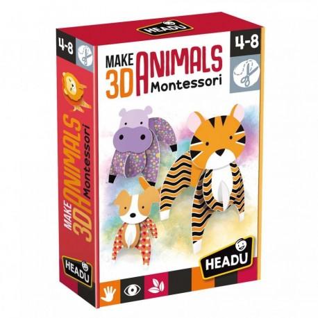 Animaux en 3D Montessori - Headu