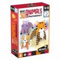 Animaux en 3D Montessori 4-8ans - Headu