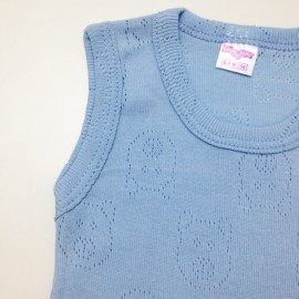 Body débardeur Bleu en coton (1 unité)