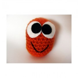 Monstre orange au crochet