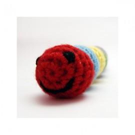 Jouet chenille au crochet