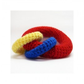 Jouet 3 anneaux au crochet