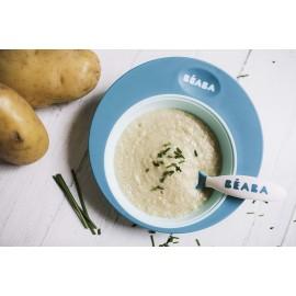 BEABA - Assiette d'apprentissage 210 ml - 4m+ - bleu