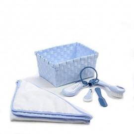 BEABA - Corbeille de toilette bleue