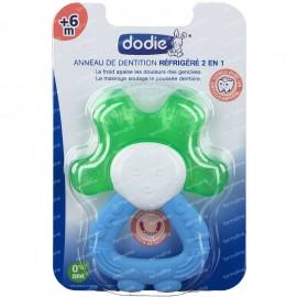 Dodie – Anneau de dentition réfrigéré 2en1 – bleu/vert