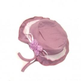 Chapeau bébé fille en coton - Violet