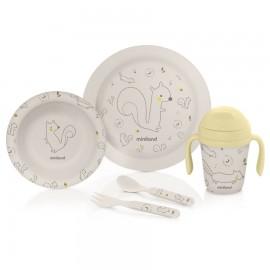 Kit vaisselle écureuil en bambou 5 pièces - Miniland