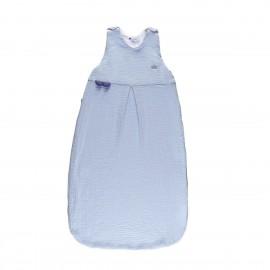 Candide - Douillette 100% coton réglable été bleu- 6/36 mois