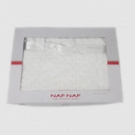 NAF NAF Couverture petits pois 110 x 140cm couleur Blanche