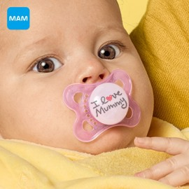 Mam - 2 sucettes Love Mummy Rose (0-6mois)