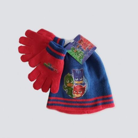 Ensemble bonnet et gants Pyjamask