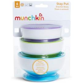 Munchkin Bols avec Ventouse Ultra Puissante, Lot de 3