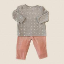 Pyjama velours coton BIO 2 pièces