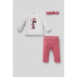 Ensemble Minnie Mouse pour bébé - 3 pièces