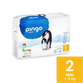 Couches Écologiques Taille 2 (3-6kg) 42unités Pingo