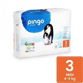 Couches Écologiques Taille 3 (4-9kg) 44 unités Pingo