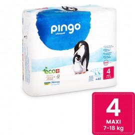 Couches Écologiques Taille 4 (7-18kg) 160 unités Pingo