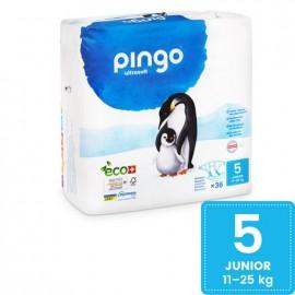 Couches Écologiques Taille 5 (12-25kg) 36 unités Pingo