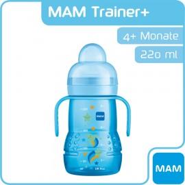 Mam - Biberon d'apprentissage Trainer+ 220ml - Bleu