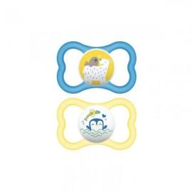 Mam - 2 sucettes (6mois+) silicone Air Bleu