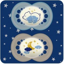 MAM - 2 sucettes (+6mois) Original Nuit bleu