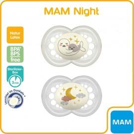MAM - 2 sucettes (+6mois) Original Nuit rose