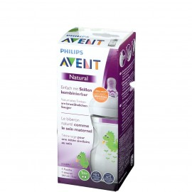Offre Biberon Avent 260ml Natural + lingettes Waterwipes